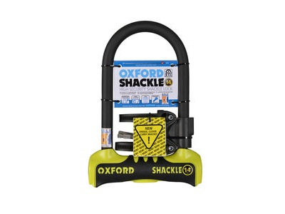 OXFORD Shackle 14 D-Lock 260 x 177mm - Yellow